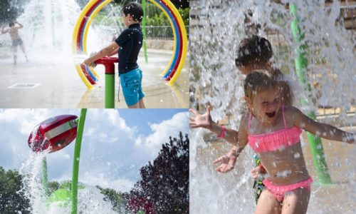 Camping Le Paradis - Splashpad page accueil