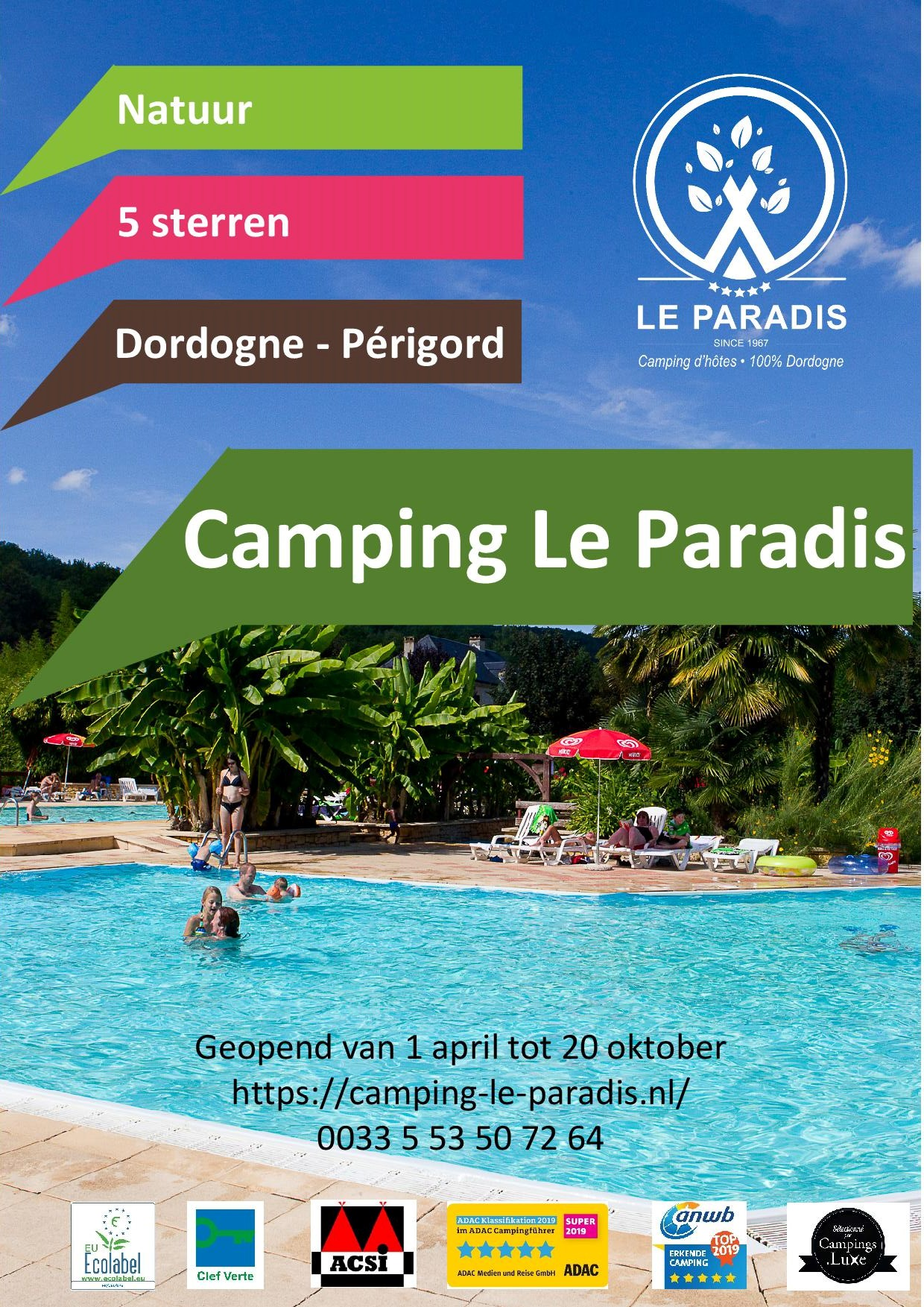 Brochure Camping Le Paradis NL